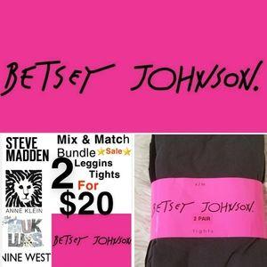 BETSEY JOHNSON BLACK & GRAY TIGHTS